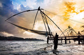Chinese Fishing nets — Stock Photo