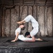 Couple yoga — Stock Photo