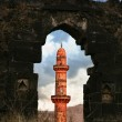 Stock Photo: Red tower in Daulatabad fort