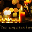 Lighting candles - Stock Photo