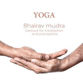 Yoga Bhairav mudra — Stock Photo