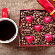 Valentines day coffee present — Stockfoto