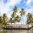 House boat in backwaters — Stock Photo