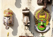 Kathakali and ganesha statues in Kochi — Foto de Stock