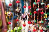Elephants in market — Stock Photo