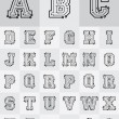 Royalty-Free Stock Vector Image: Technological Alphabet