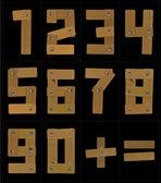 Wooden Numbers — Stock Vector