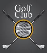 Golf Club Design Element — Stock Vector