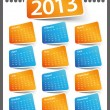 Calendar Design 2013 — Stock Vector #8444326