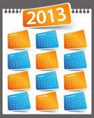 Calendar Design 2013 — Stock Vector