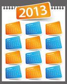 Calendar Design 2013 — Stock Vector