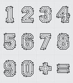 Numeri tecnologici — Vettoriale Stock