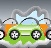 Hybrit Car — Stock Vector