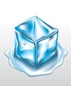 Кубик льда — Cтоковый вектор