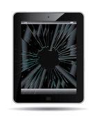 Broken Tablet PC — Stock Vector