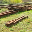 Unidentified railroad tracks and railway points,switch — 图库照片 #10337299