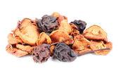 Dried fruit isolation on white background — Stock Photo