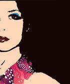 ファッション女性の肖像画 — ストックベクタ