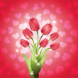 Tulips Bouquet — Vector de stock #8707274