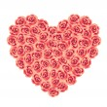 Rose Heart — Stock Vector