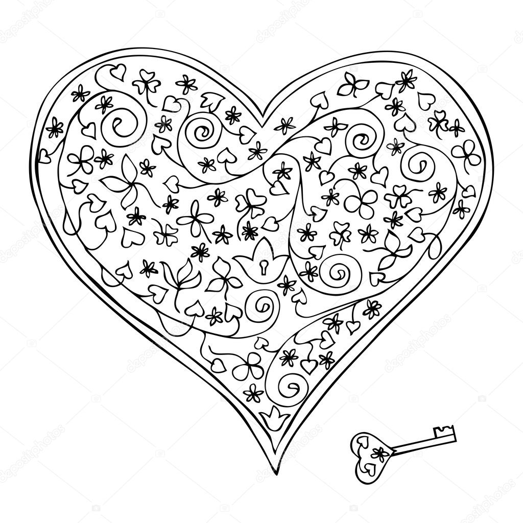 Free Lock And Key Coloring Pages
