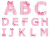 Baby girl alphabet set from A to M — Stock Vector
