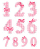 Baby girl numeral set — Stock Vector