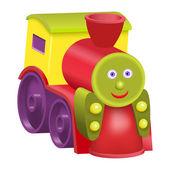 Isolated toy cartoon locomotive — Stock Vector