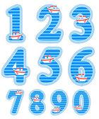Baby boy numeral set — Stock Vector