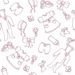Royalty-Free Stock Vector Image: Graphic baby girl seamless pattern