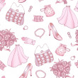 Royalty-Free Stock Vector Image: Rose and white wedding seamless pattern