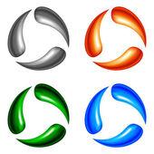 Four logo elements — Stock Vector
