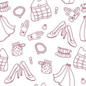 Graphic wedding seamless pattern — Stock Vector