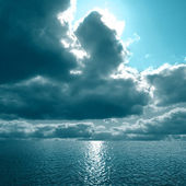 Dense clouds in the sea — Stock Photo