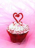 Cupcake for Valentine — Stock Photo