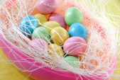 Easter candy eggs — Stock Photo