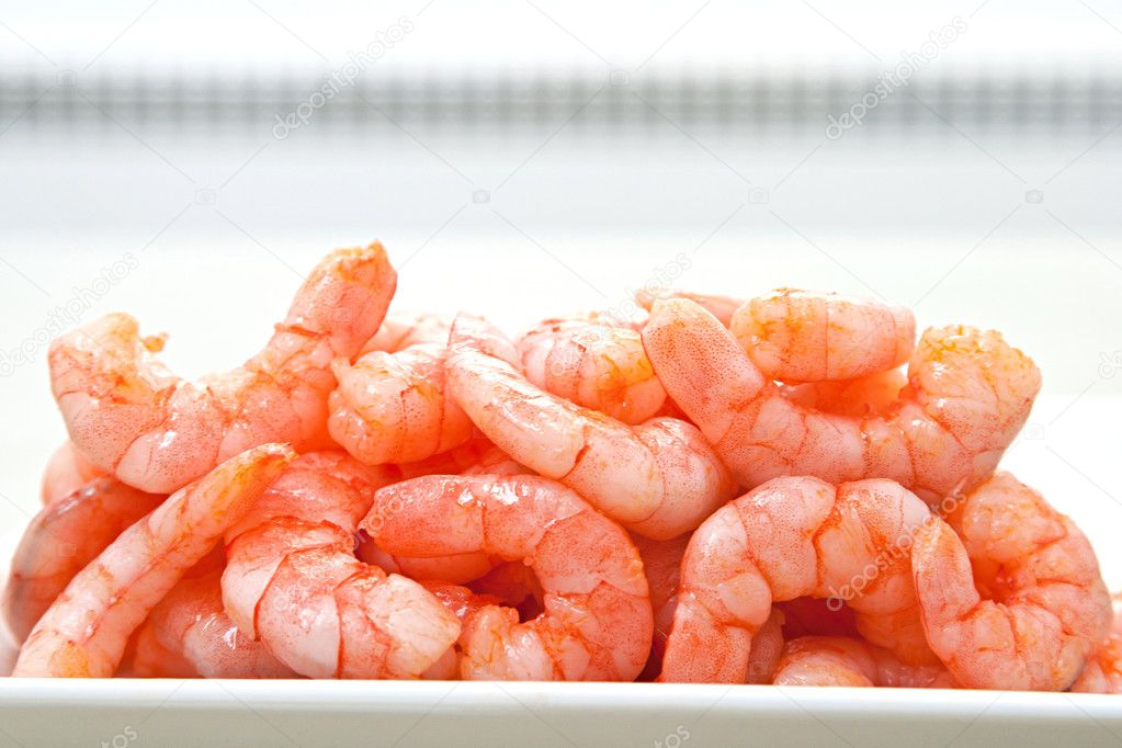 Snack is same big red shrimp — Stock Photo #9157608