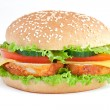 Burger with chiken — Stockfoto