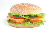 Burger with chiken — Stock Photo