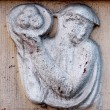 Vintage bas-relief with woman — Stock fotografie