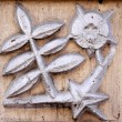 Vintage bas-relief and mystical symbol — Stock Photo