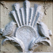 Old vintage bas-relief with bird — Stockfoto