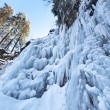 Frozen waterfall — Foto Stock