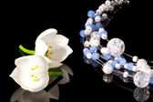 Necklace with flowers — Stock Photo