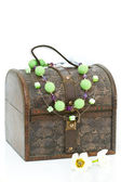 Wooden treasure chest — Stock Photo