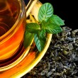 Tea and mint — Stock Photo