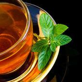 Tea and mint — Stock Photo