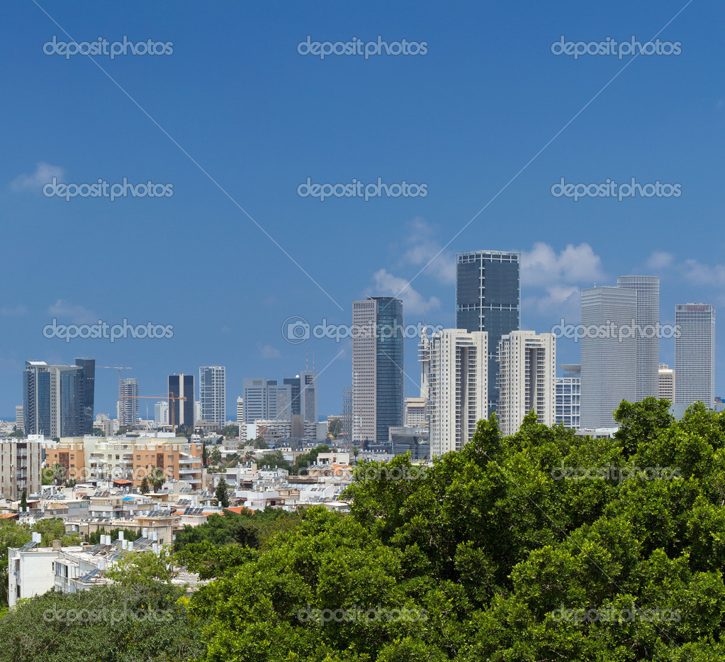 Tel-Aviv and Ramat Gan city. Israel. — Stock Photo #10729340