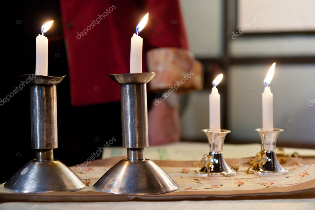 Four candles on the table — ストック写真 #8589274