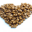 Pet food heart — Stock Photo